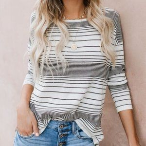 vici friends forever striped sweater